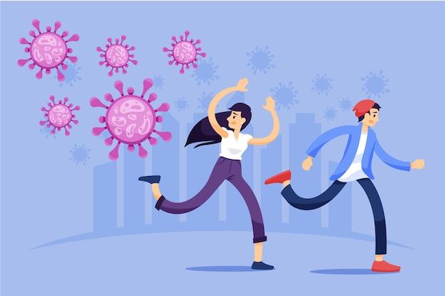 Ludzie boją się koronawirusa