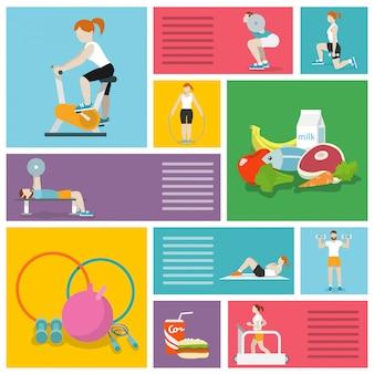 Ludzie ćwiczący na siłowni