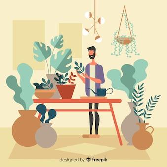 Ludzie dbający o rośliny
