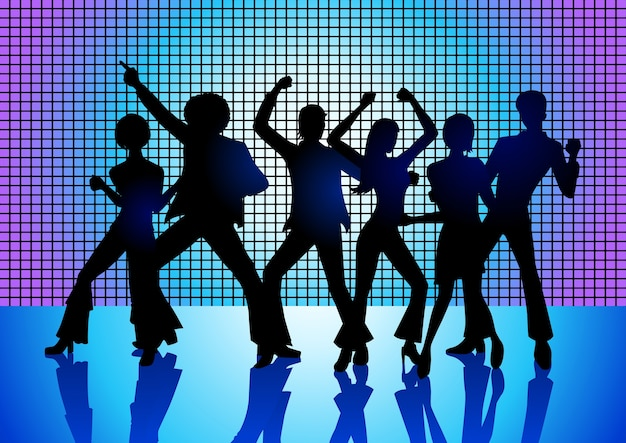 Ludzie disco dancing