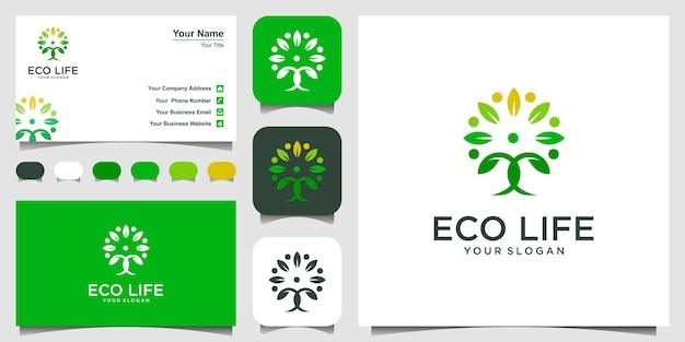 Ludzie drzewo wektor logo projekt inspiracji.