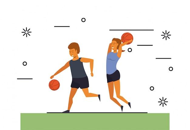 Ludzie fitness treningi sportowe