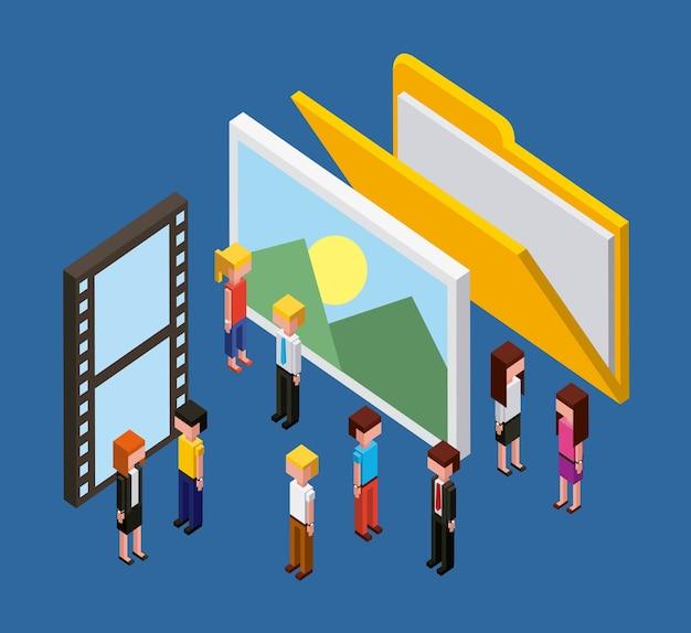 Ludzie folder zdjęcie film film