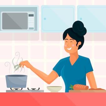 Ludzie gotowania ilustracji
