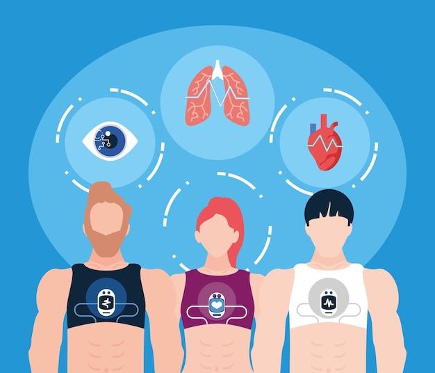 Ludzie i zdrowie do noszenia