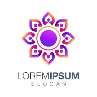 Ludzie kolor gradientu logo