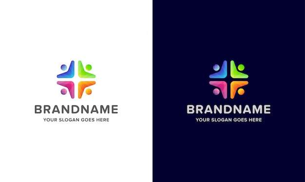 Ludzie kolorowe logo kreatywnych