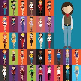 Ludzie kostiumy kolekcji
