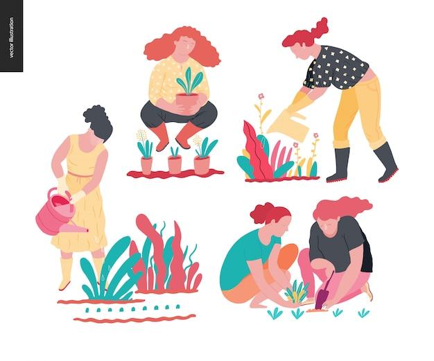 Ludzie letnie ogrodnictwo