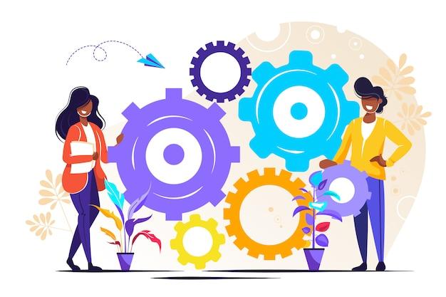 Ludzie linki mechanizmu, mechanizm biznesowy