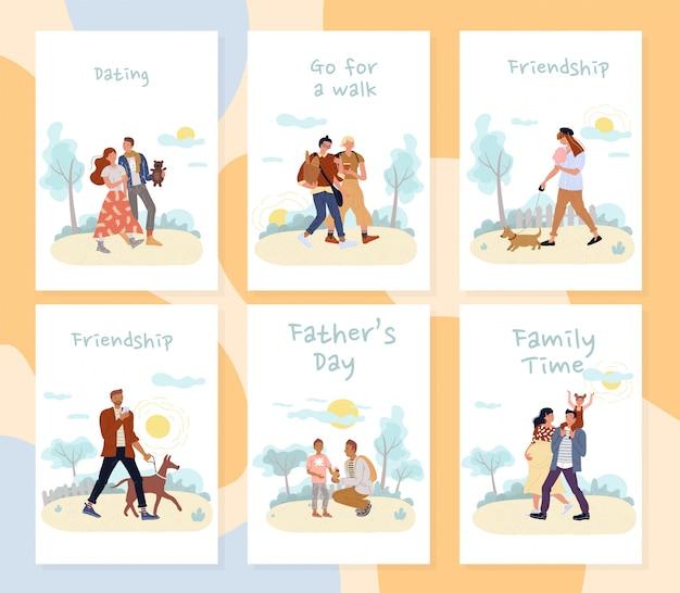 Ludzie lubią aktywny zestaw kart outdoorowych na czas letni