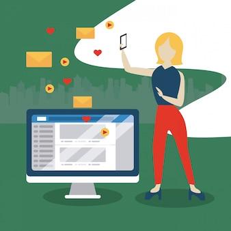Ludzie, media społecznościowe i sieć