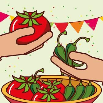 Ludzie meksykańskie jedzenie