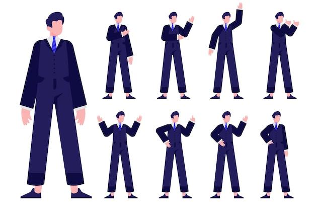 Ludzie męskiego żeńskiego charakteru projekta płaskiej ilustraci