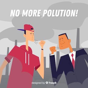 Ludzie mieszkający w mieście pełnym zanieczyszczeń
