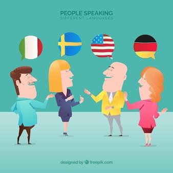 Ludzie mówiącymi różnymi językami