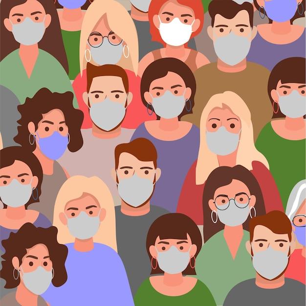 Ludzie na całym świecie noszą maskę ochronną
