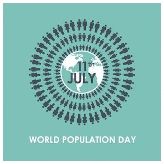 Ludzie na całym świecie tle populacji dnia