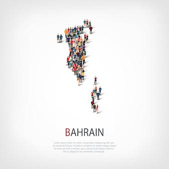 Ludzie na mapie kraju bahrajn