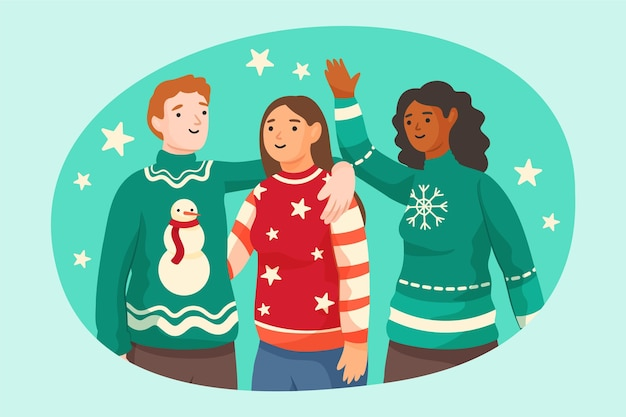 Ludzie noszący brzydkie swetry