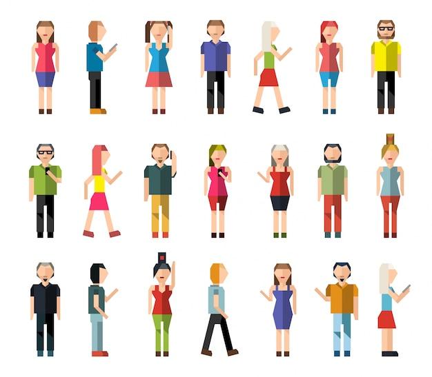 Ludzie pixel awatary
