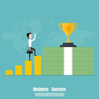 Ludzie podchodzą do sukcesu finansowego biznesu