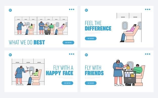 Ludzie podróżują samolotem z pasażerami na pokładzie