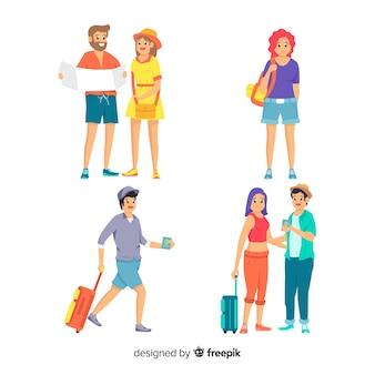 Ludzie podróżujący w kolekcji