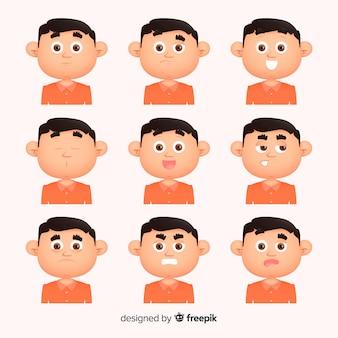 Ludzie pokazujący emocje