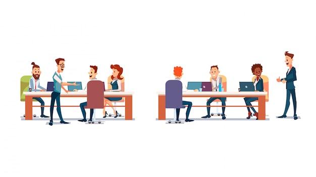 Ludzie pracują w biurze