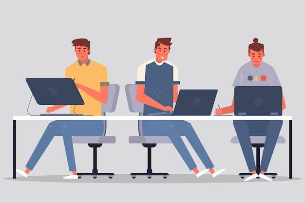 Ludzie pracujący w branży projektowej