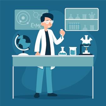 Ludzie pracujący w laboratorium naukowym
