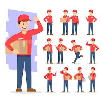 Ludzie pracujący wektorowej ikony ilustraci charakter