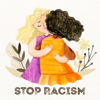 Ludzie przytulający pojęcie braku dyskryminacji