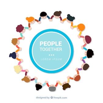 Ludzie razem tła