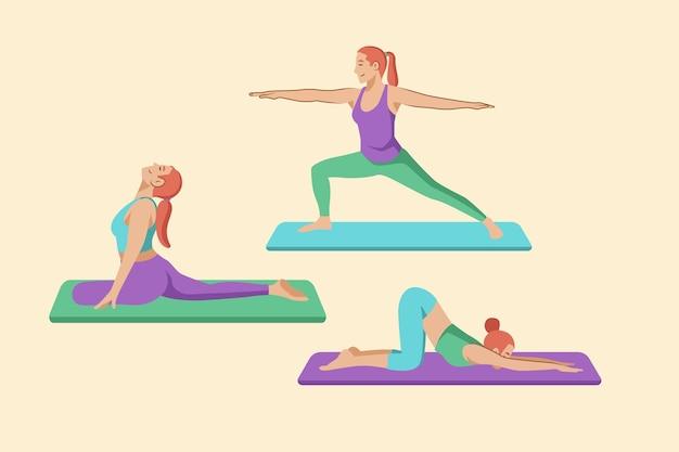 Ludzie robią kolekcję jogi
