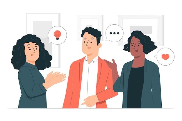 Ludzie rozmawiają ilustracja koncepcja