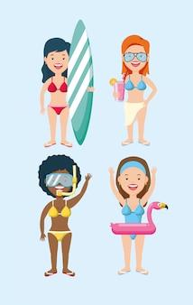 Ludzie spędzają czas letni