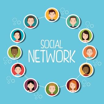 Ludzie społeczności sieci społecznościowych