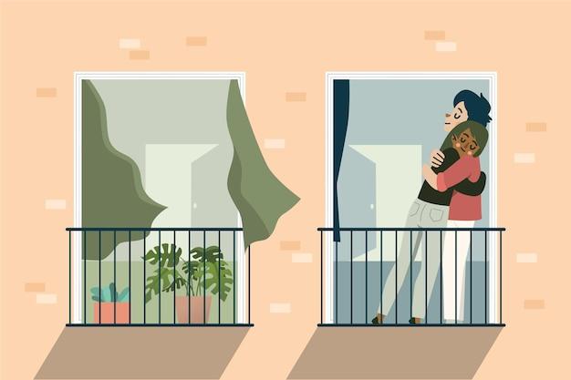 Ludzie spotykający się po izolacji