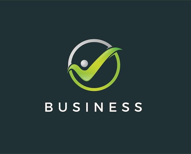 Ludzie sprawdź logo, wektor zdrowia i opieki dla dzieci. gwarancja satysfakcji z pracy.