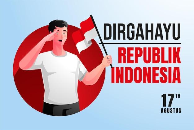Ludzie świętują indonezja 76. dzień niepodległości hari kemerdekaan indonezja ke 76