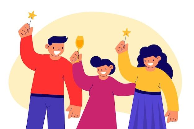 Ludzie świętują razem koncepcja