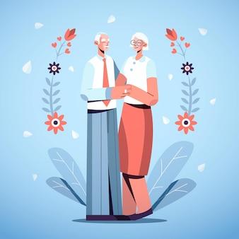 Ludzie świętują swoją złotą rocznicę ślubu
