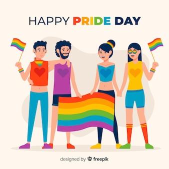 Ludzie świętujący dzień dumy