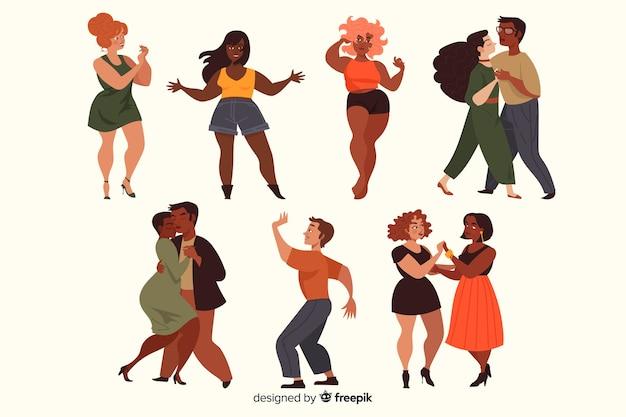 Ludzie tańczą kolekcję