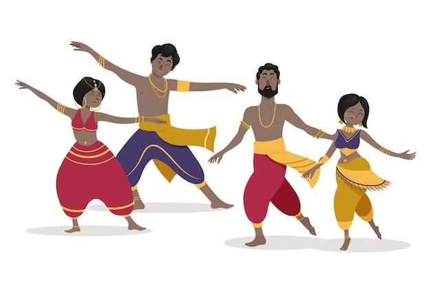 Ludzie Tańczą W Bollywood Darmowych Wektorów