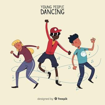 Ludzie tańczą