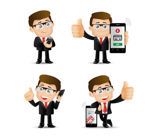 Ludzie ustalają płatności mobilne.