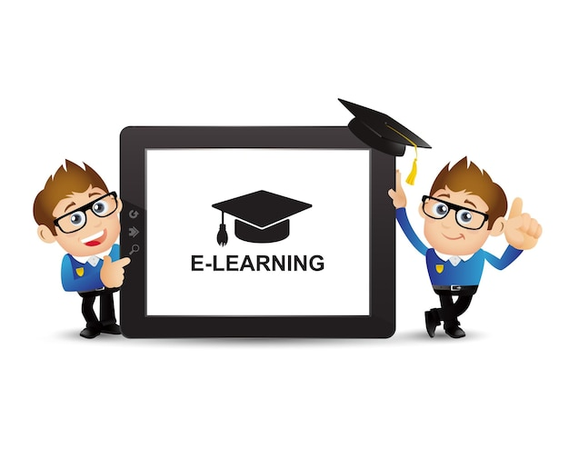 Ludzie ustaw koncepcję e-learningu